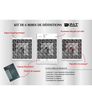 KIT DE 6 MIRES DE DEFINITIONS PAT